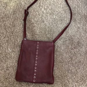 Burgundy Coach Crossbody